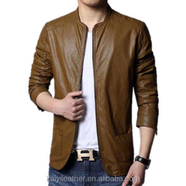 Plain Leather Jacket Mens Brown Man Leather Jacket Plain