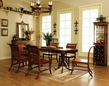 DC3006 - High End solid wood maple in color of rosewood dining chairs