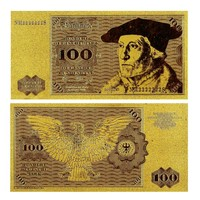 Business Gift 100 Mark Gold Bank Notes World Currency
