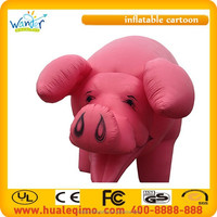 2015 Giant inflatable pig balloons/ inflatable cartoon characters