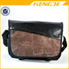 leather polyester material vintage fashion boys cross body messenger bag