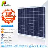 Powerwell Solar 80w polycrystalline solar modules high efficiency fiexible solar panel china price with all certificatse