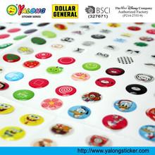 Colorful Custom Self Adhesive Big Sheet Round Epoxy Resin Sticker