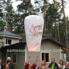 Large Chinese sky flying paper lanterns for Festival with different painting