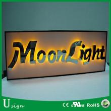#304 Stainless steel backlit LED lights 3D letter sign