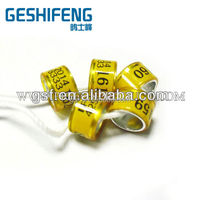 bright colors for you choose free size with custom personal information latest new style ring short pgieon ring