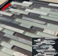 Glass mix Stone Mosaic Tile, glass mosaic tile,marble mosaic
