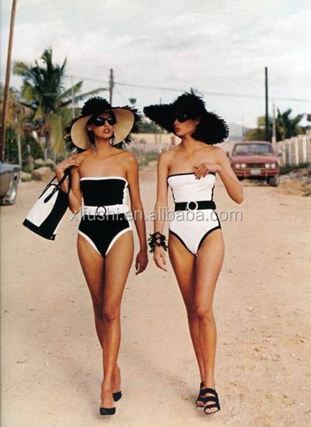 jawlfc-l-610x610-swimwear-complete-piece+swimsuit-fashion-classy-chanel-black-white-black+white-hat