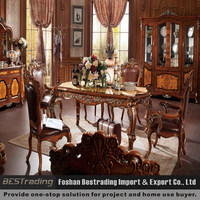 solid wood carved dining table with chair,solid beech wood chair