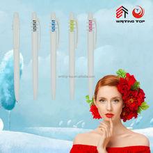 2015 promotion white custom color plastic ball pen