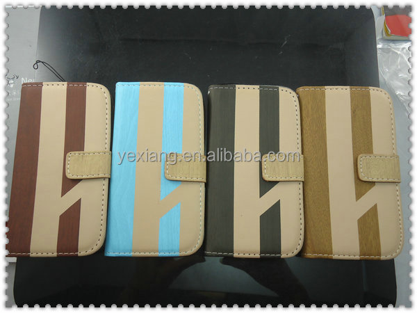 Wallet PU Leather Case for Samsung S2 i9100 alibaba china leather case