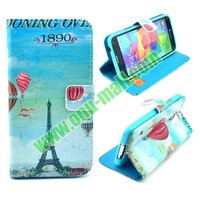Wallet Style Magnetic Flip Stand Leather Case for Samsung Galaxy S5 I9600 with Card Slots
