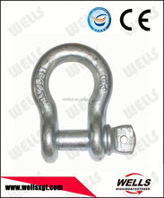 Factory supply marine hardware bow shackle bolt pin