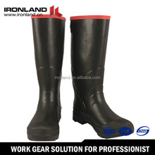 Steel Midsole Stylish men's rubber rain boots high heel