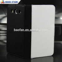 Table Stand Foldable Sublimation Leather Phone Case for Samsung S3 i9300 stand leather mobile phone cover