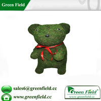 Rabbit Wire Frame Topiary with Moss Topiary Garden