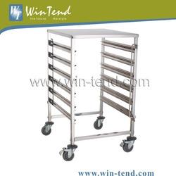 Heavy Duty Stainless Steel Gn Pan Foldable Kitchen Trolley