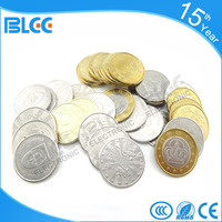 China Guangzhou wholesale vending machine customize stain steel game tokens also for amusement machine