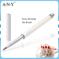 ANY Nail Art Design Care Pure Color Pearl Handle Pure Sable Nail Art Brush