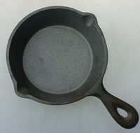 Hot sale high quality FDA certification preseasoned cast iron round mini skillet