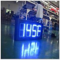 p10 indoor full color computer led temperature display led time and temperature display