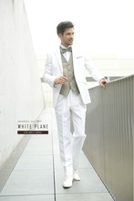 China supplier tailor made suits RM1533 latest wedding suit men white man suit tuxedo with pants