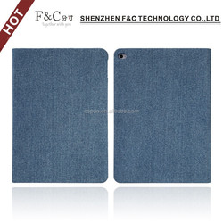 For ipad air 2 folio stand cloth case with credit card slot