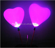 Cheap price advertising heart shape latex led light balloon for Party wedding garden decoration