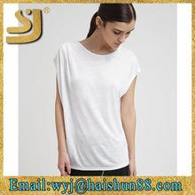 sexy woman blank scoop neck basic t shirt,blank cotton wholesale t-shirts