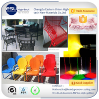 outdoor chair spray colorful high bright powder coated paint