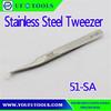 51-SA Oblique Angled Tweezers w/Micro-Fine Points Stainless Steel Tweezer