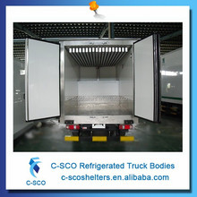 Eutectic cold plate refrigerated truck box,freezer truck body