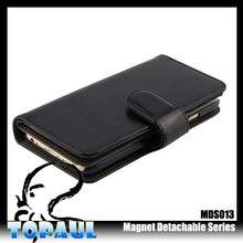 case for phone multiple card holder and money hole flip leather case for note 3