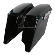 "5"" Vivid Black Extended Saddlebag For 1993-2013 Harley Touring Model FLH FLT New"