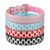 Polka Dots Leather rhinestone buckles for dog collars