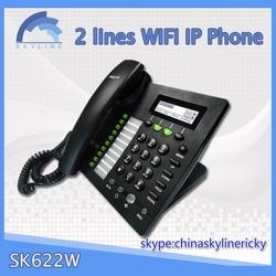 2 lines desk phone wifi phone