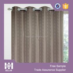 Polyester jacquard wave window curtain,custom window curtain, eyelet curtain from china