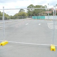 Removable fence panels with plastic feet