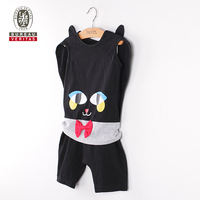 Kids clothing 2012 gentle black cat cosplay china kid clothes