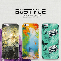 High quality 3D oil painting pattern silicon PC mobile case cover for iphone 6 plus for iphone 6 6S