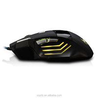 Cool gaming mouse light wired game mouse bulk cheap gamer mouse