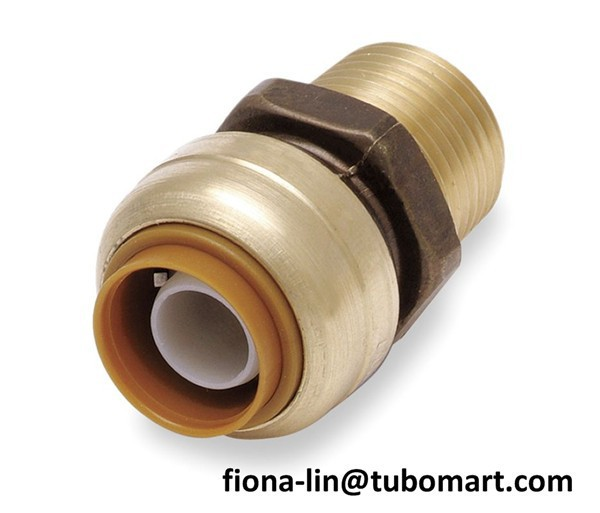 Female push fitting connectors to connect copper pipes and for How to connect pex pipe to copper