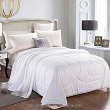 100% Polyester,cotton, down filling quilt/comforter/duvet for family use white cotton embroidered duvet