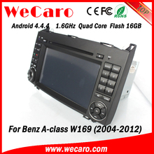 Wecaro Android 4.4.4 car dvd player touch screen for mercedes w169 car radio WIFI 3G bluetooth 2004-2012