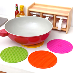 High Quality Soft Silicone Round Pan and Bowl Heat Thermal Insulation Pad