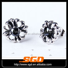jewelry supply good quality latest fashion stainless steel crystal earring