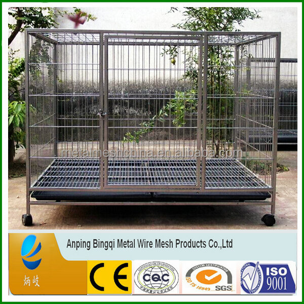 China professional supplier iron fence cheap chain link dog kennels , high quality ISO 9001