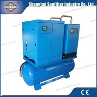 10hp 7.5kw Combined Screw Air Compressor for compresor chile