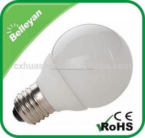 G60 5 W llevó la luz del globo de la lámpara del bulbo con e27 base de ci