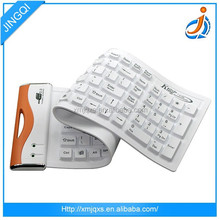 Daily used custom white color dust-proof wireless silicone keyboard